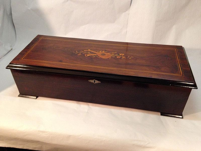 antique swiss cylinder music box 2